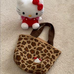 Hello Kitty Leopard tote
